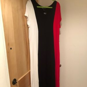 NWT Lane Bryant color block maxi dress in 18/20